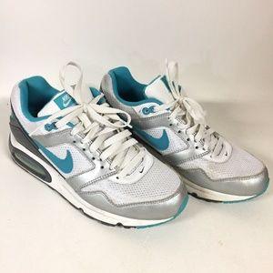 * Nike Air Max Navigate White Aqua Blue Sneaker